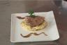 Porc rôti à la sauge polenta aux champignons