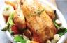 Poulet rôti fraîcheur de légumes nouveaux