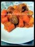 Ragoût de boulettes de boeuf au riz et sauce tomates