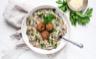 Risotto aux champignons et boulettes persillées