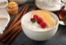 Riz au lait vanille poire caramel