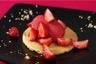 Sablé breton aux fraises fraîches sorbet framboise express