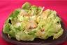 Salade coeurs de Laitue au flétan fumé et sauce moutarde aux baies roses