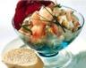Salade de blé composée aux crevettes