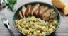 Salade de boulgour au poulet Kaki Ribera del Xùquer AOP et aux herbes