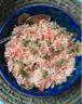 Salade de céleri rave aux carottes râpées