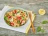 Salade de farfalle et poivrons grillés à l'émietté végétal