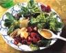 Salade de mâche et de betteraves aux moules