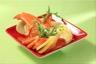 Salade de pommes de terre et homard poché au jus de coquillages