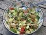 Salade de pommes de terre grelots aux tomates cerises confites