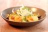Salade de pommes de terre primeurs aux coques vinaigrette aux agrumes