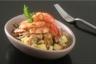 Salade tiède de pommes de terre primeurs vinaigrette de coquillages