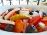 Salade tomates-fenouil-carottes et olives noires
