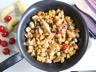 Sauté de poulet au pommes de terre confites