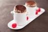 Soufflé au chocolat coeur de framboises
