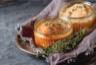 Soufflé de pommes de terre aux fines herbes et au fromage de brebis