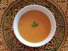 Soupe de lentilles corail aux crevettes et harissa traditionnelle