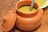 Soupe de lentilles vertes a la turque aux copeaux de zeste de citron