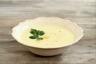 Soupe de poireaux aux pommes de terre et oeufs de caille