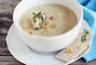 Soupe de pommes de terre poireaux et champignons