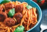 Spaghetti aux boulettes d'aubergine