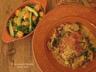 Spaghettis, sauce crémeuse, façon méditerranée