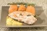 Suprême de volaille contisé au romarin purée de patate douce et curry maison au lait de coco