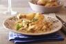Suprême de volaille rôti champignons de Paris cuisinés à la moutarde à l'ancienne