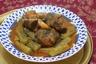 Tajine souris d'agneau aux courgettes et menthe sechee ( market jraywet )