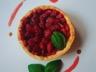 Tarte aux fraises et crème pâtissière au basilic