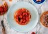 Tarte fine au thon et tomates cerises confites
