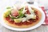 Tarte fine tomates confites jambon de Parme et parmesan à l'huile de truffe blanche