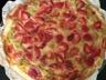 Tarte rhubarbe fraises chocolat blanc