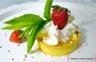 Tartelette (trendy) à la crème citron / lemon curd et crème fouettée - fraises