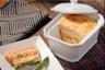 Terrine de langoustines et saumon aux petits légumes
