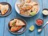 Tortillas façon samossas (pommes de terre petits pois et poulet)