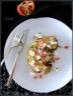 Tranches de chou-fleur au chevre frais, thym et grenade