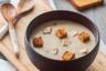 Velouté de Châtaigne au Foie gras & Croûtons de Pain d'épice