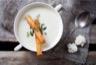Velouté de chou-fleur au chèvre frais et au curry