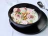 Velouté glacé de chou-fleur roulés de jambon au fromage frais