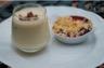 Verrine de mousse de chocolat blanc et croustillant praliné