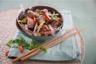 Wok d'agneau et petits légumes aux saveurs de Bali