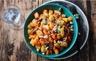 Wok de pommes de terre courge butternut et fruits secs